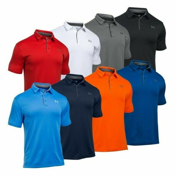 Under Armour 1290140 Men#x27;s UA Tech Performance Loose Fit Golf Polo Team Shirt