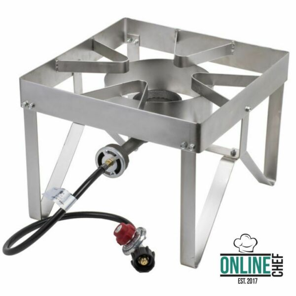 Stainless Steel Single Burner Liquid Propane Outdoor Camping Patio Stove  Range