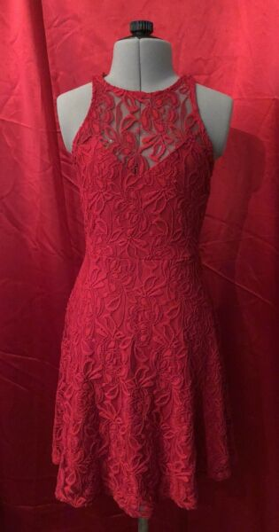 Brand New Red Material Girl Dress SM $30.00