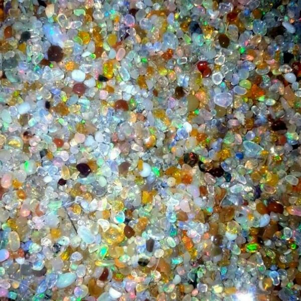 100% Natural Super Welo Fire Ethiopian Opal Polished Rough Gemstone Lot 2to4 mm