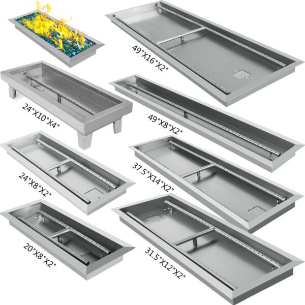 Linear Trough Drop In Fire Pit Pan Natural Gas Burner 202425.531.537.549 $64.99