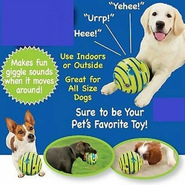 ORIGINAL Wobble Giggle Ball Sound Jumping Interactive Toy Pet Play for Large Dog