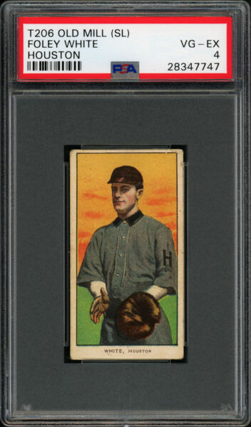 1909-11 T206 Foley White Old Mill Back Southern League Houston PSA 4 VG - EX
