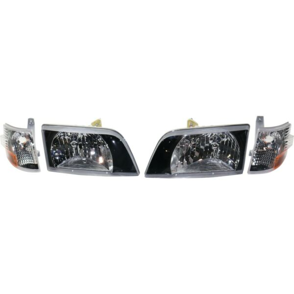 Headlight For 1998 1999 Volvo VN Driver and Passenger Side