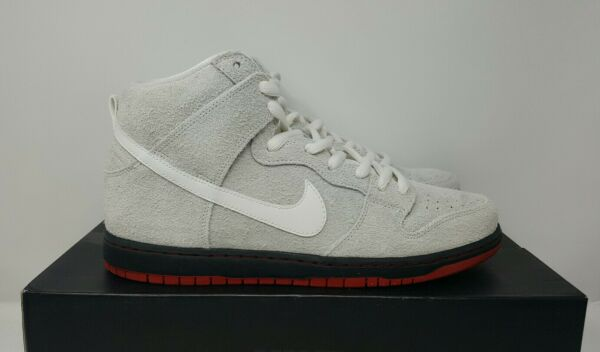 Nike SB Dunk High Black [881758 110] Wolf In Sheep's Clothing White Gray Sz 11.5