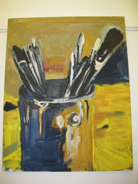 Roger Herman 'Paint Bucket' 60x48 Original Signed Painting on Canvas