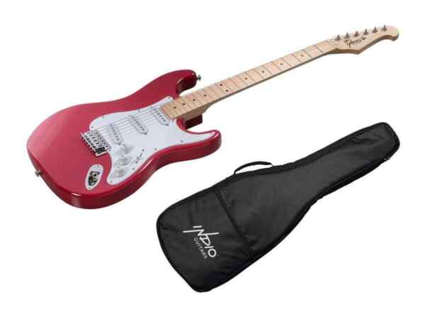 Monoprice Indio Cali Classic Electric Guitar Wine Red With Gig Bag $79.99