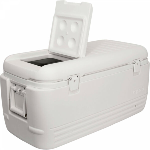 Large Ice Chest Insulated Igloo Cooler 100 Quart Qt Cold Marine Fishing White