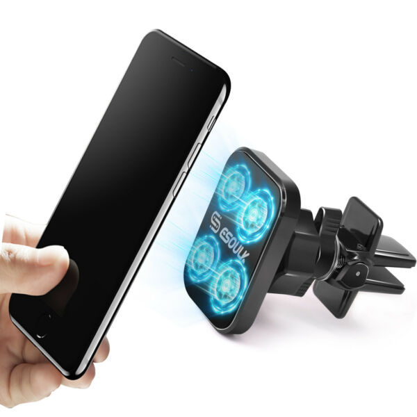 Car Mount Air Vent Magnetic Phone Holder 360 Rotation For iPhone Galaxy GPS