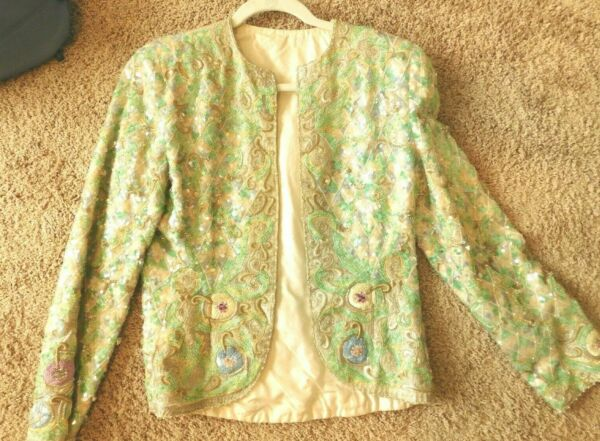 A STEAL ONE OF A KIND VINTAGE EMBROIDED JACKET ORIG COST $3000 NOW $99.95 $89.95