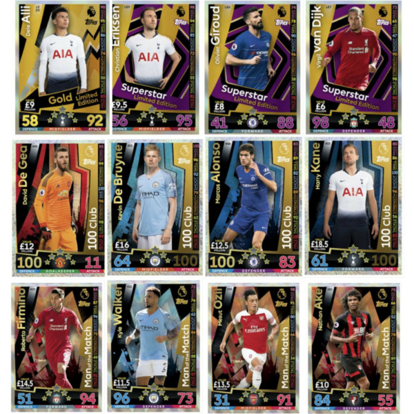 MATCH ATTAX 201819 1819 LIMITED EDITION MAN OF THE MATCH & 100 CLUB