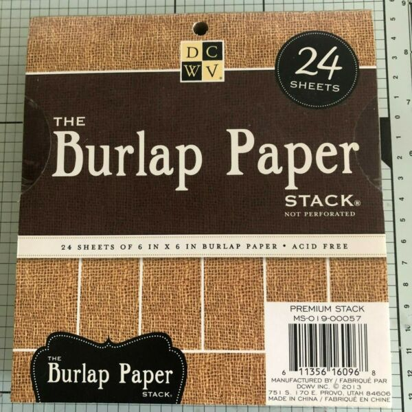 DCWV BURLAP 24 PAPER STACK OR TWINKLE GLINTS 24 PAGE STACK