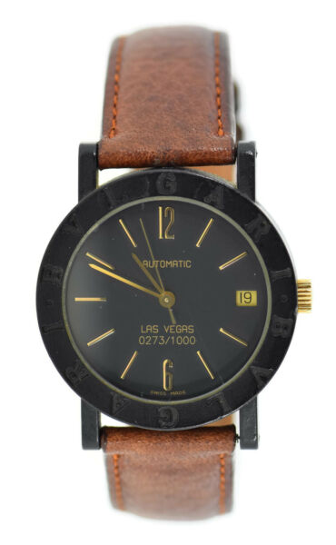 Bvlgari Las Vegas Automatic Limited Edition Carbon Watch $1195.00