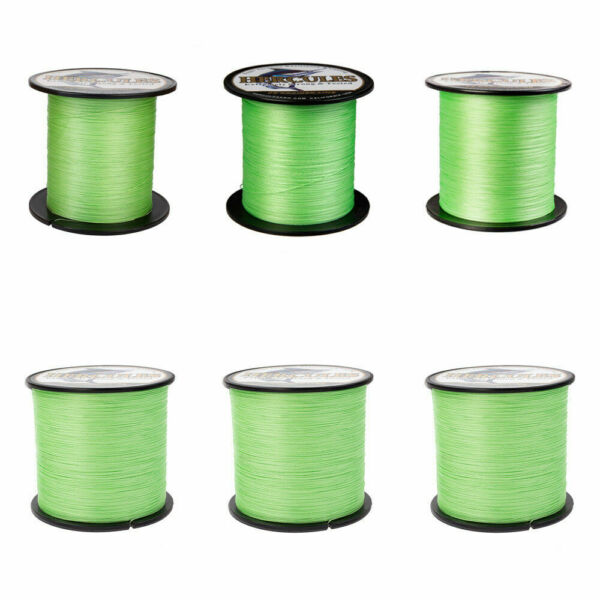 Hercules Fluorescent Green 100-2000m 6lb-300lb 4 8 Strands Braided Fishing Line