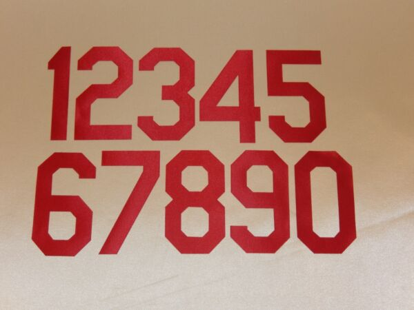 9601 LOS ANGELES DODGERS Number KIT For FRONT Number Only RED 5 Inches
