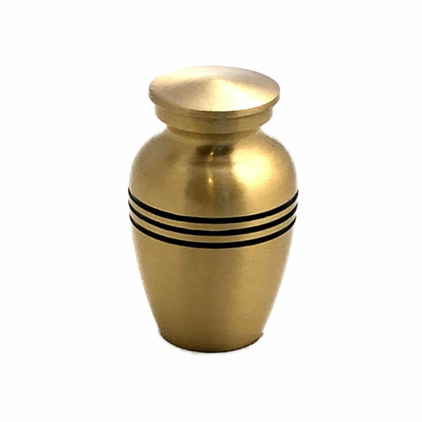 Well Lived® Small Brass Engraved Band Keepsake Cremation Urn for human ashes