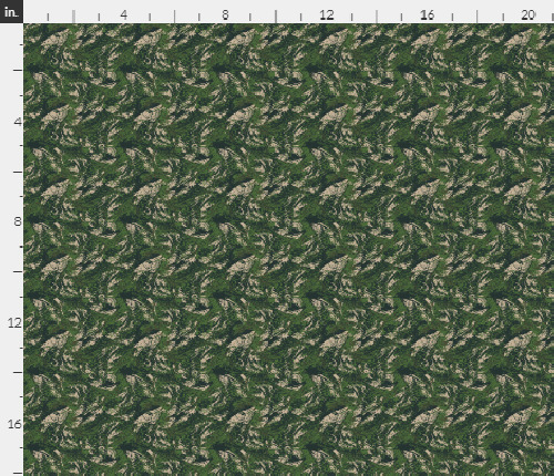 1 6th Scale All Over Brush Woodland Camo Material 18quot; x 14quot;
