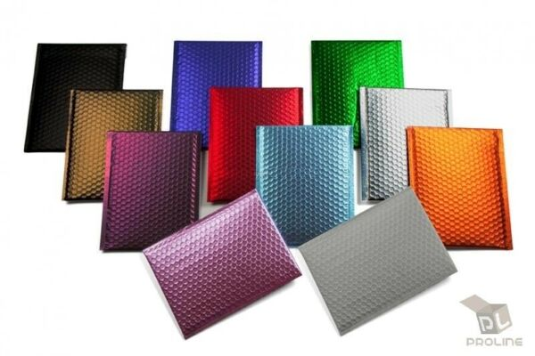 Any Size Color MATTE METALLIC Poly Bubble Mailers Mailing Padded Envelopes $28.37