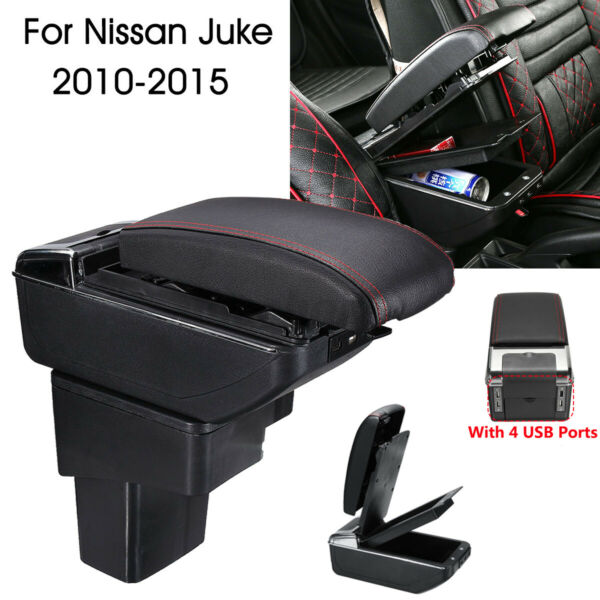 For Nissan Juke 10-15 Car Armrest Console Box Storage Central Handrails