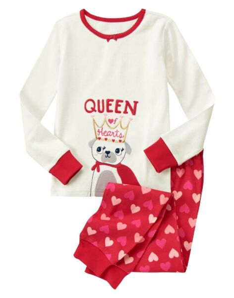NWT Gymboree Pug Dog Queen of Hearts Valentines Day pjs Girls size 4 $15.99