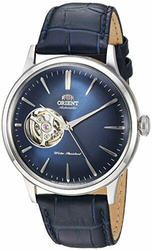 Orient Men's 'Bambino Open Heart' Automatic Leather Dress Watch RA-AG0005L10A