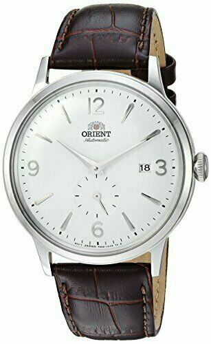 Orient Men's 'Bambino Small Seconds' Automatic Leather Dress Watch RA-AP0002S10A