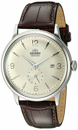 Orient Men's Bambino Small Seconds Automatic Watch Leather Strap RA-AP0003S10A