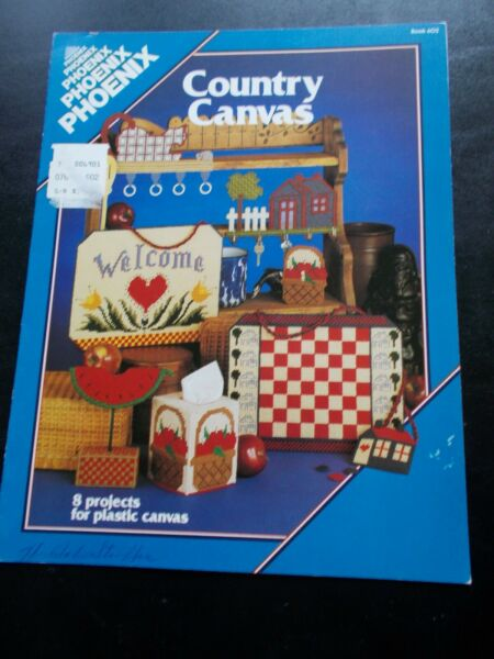 Country Canvas Plastic Canvas Leaflet 8 Projects For Plastic Canvas 1986
