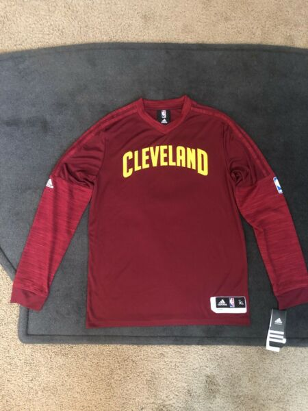 NBA Adidas Authentic On-court Cleveland Cavaliers Long sleeve Men's XL Maroon