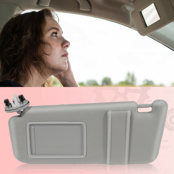 Gray Sun Visor for 2007-2011 Toyota Camry Driver Side With Sunroof and Light $29.89