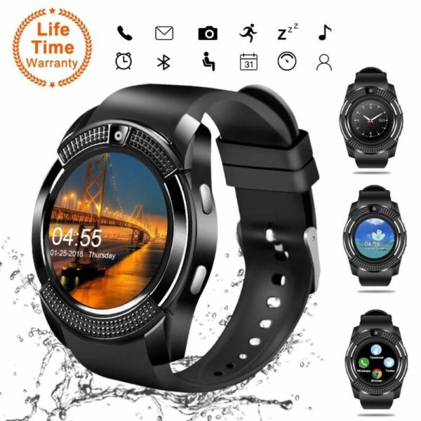 V8 Smart Watch Bluetooth Touch Screen Wrist Tracker With CameraSupport SIM Card