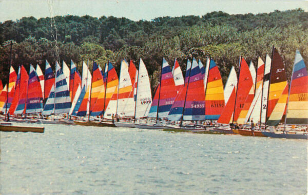 Postcard Catamarans On Pleasant Bay Cape Cod MA Posted 1983