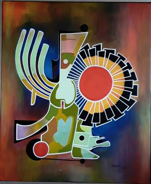 Angel Alfonso Position of the Sun  Mixed Media on Canvas 38X30