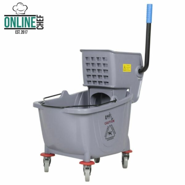 Commercial Wet Mop Bucket & Wringer Combo 36 Quart Gray  Janitorial Hotel Home