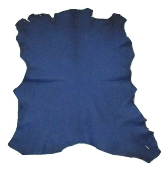 Reduced $ Royal Blue Goatskin Leather Hide Goat Skin