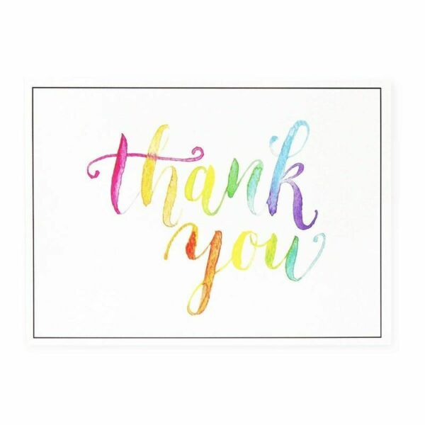 120 Pcs Thank You Cards Bulk Set Watercolor Design Thank You Notes amp; Envelopes