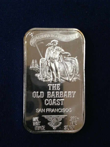 1973 USSC Old Barbary Coast Mammy Pleasant's 1973 USSC-198 Silver Art Bar P1375