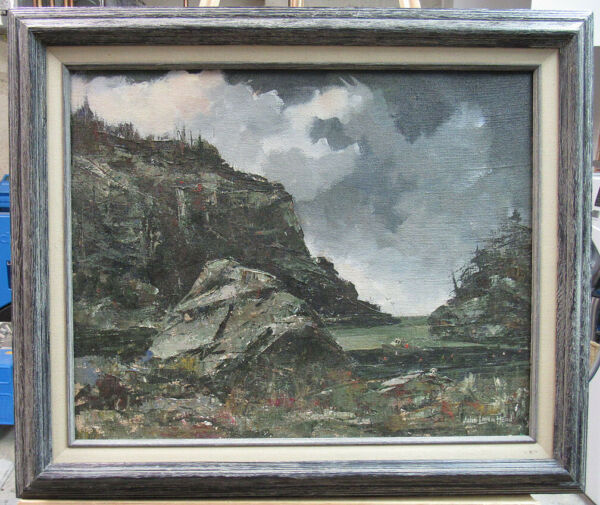 John Loren Head Impressionist Maine Cove with Lobster Boat Listed NH amp; Virginia