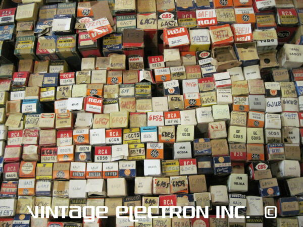 Lot 100 ASSORTED MIXED VACUUM TUBES Radio Ham TV Grab Bag FREE SHIPPING