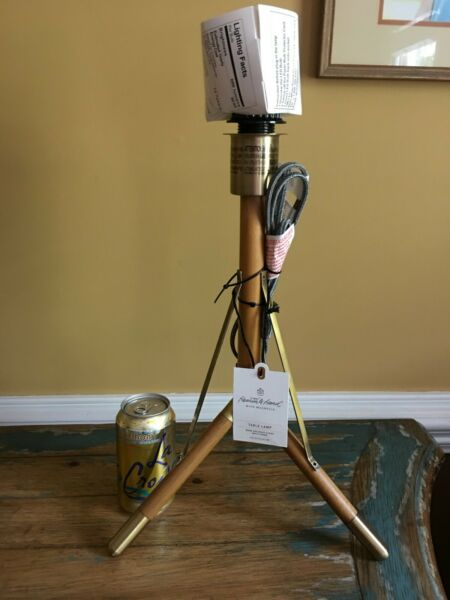 Hearth & Hand Magnolia Table Lamp Wood & Brass