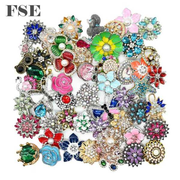 Wholesale 18mm Snap Button Multi Rhinestone Snap Charms For 20mm Snap Jewelry 08
