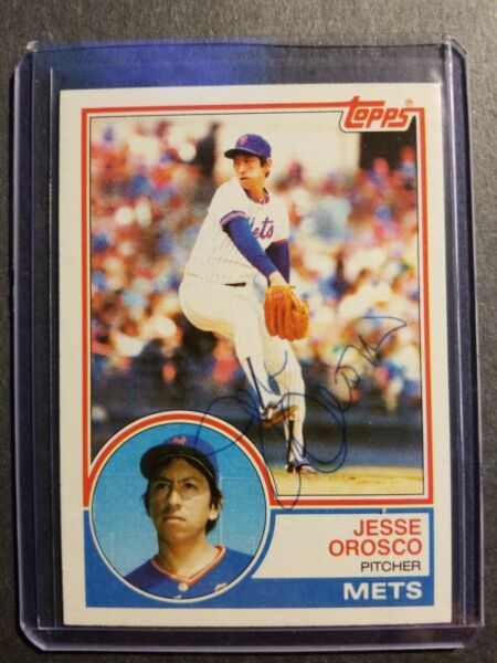 Jesse Orosco New  York Mets 1983 Topps autographed Baseball Card