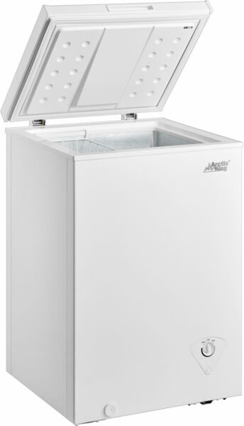 Deep Chest Upright Compact Freezer Storage Home Quick Defrost 3.5 Cu Ft White