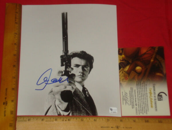 Authentic-Clint Eastwood Signed 8