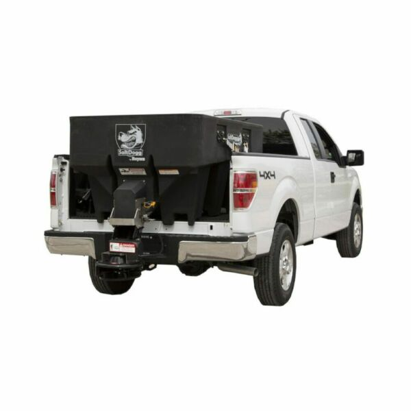 SaltDogg 1.0 Cubic Yard Electric Black Poly Hopper Spreader