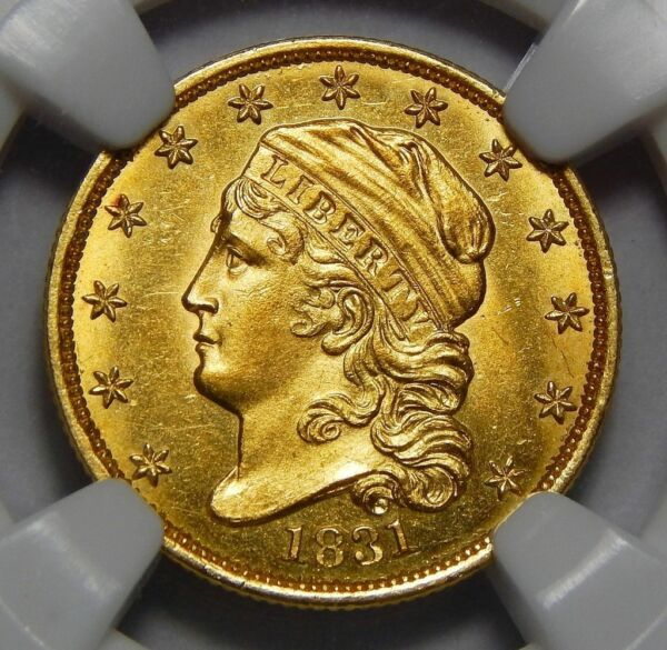 TOP POP!!!! 1831 NGC MS66* (STAR) $2.50 CAPPED BUST GOLD - ONLY 2 KNOWN IN GRADE