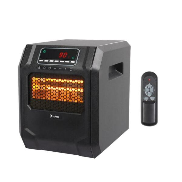 Portable Electric Infrared Space Heater 1500W 12H Timer Remote Control Indoor $53.99