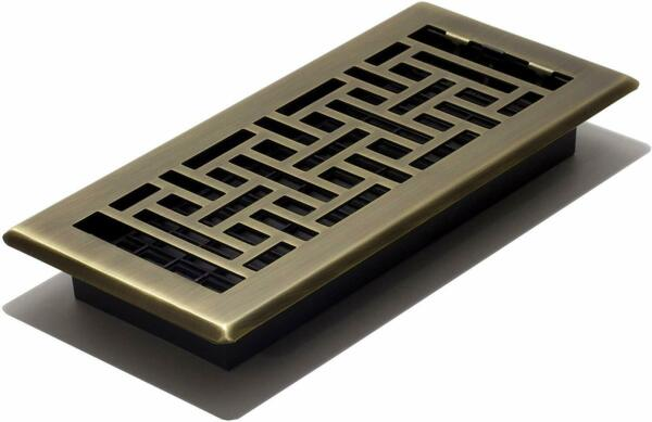 Floor Register With Louvered Design Vent Cover Steel 4