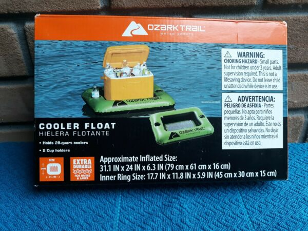 Cooler Float Ozark Trail Water Sports 28qt 2 Cup Holders $12.90