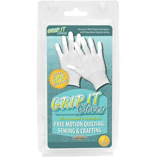 Grip Gloves For Free Motion Quilting Large 739301486663